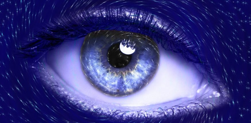 blaues Auge Großaufnahme